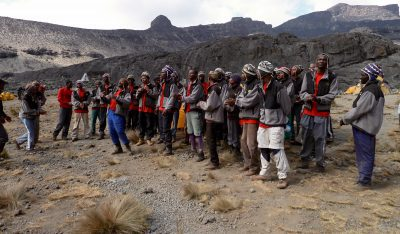 porters are employed thanks to tourism on Kilimanjaro