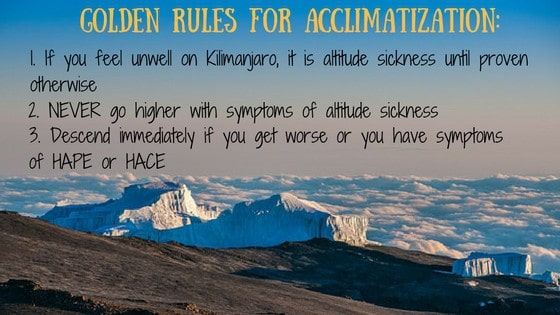 Golden Rules for Altitude