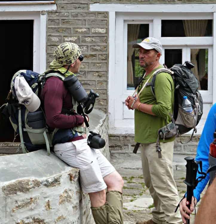 hiking everest base camp
