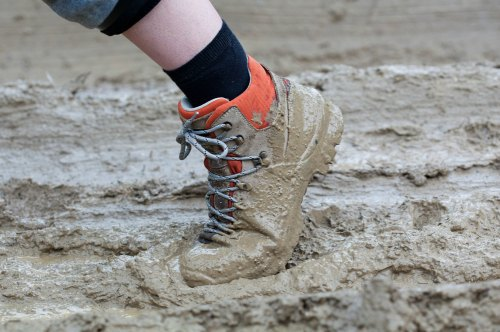 Muddy conditions make for more blisters