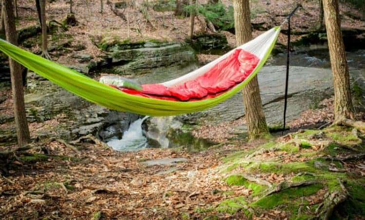 Hammock vs tent - hammock pros