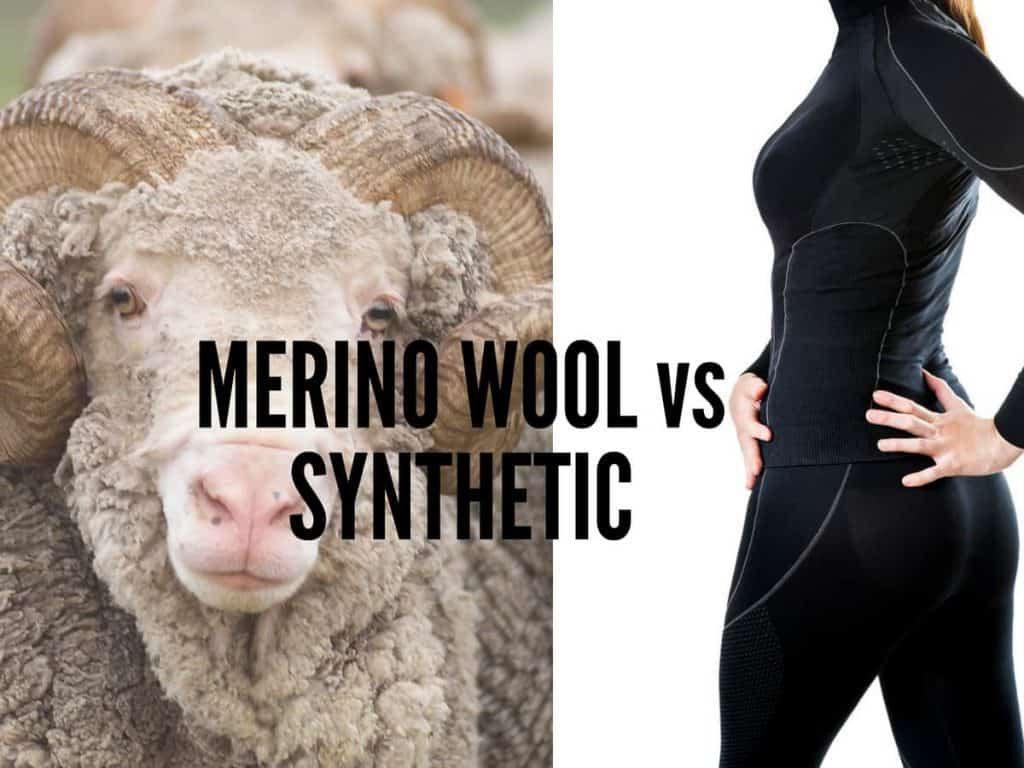 merino wool vs synthetic materials