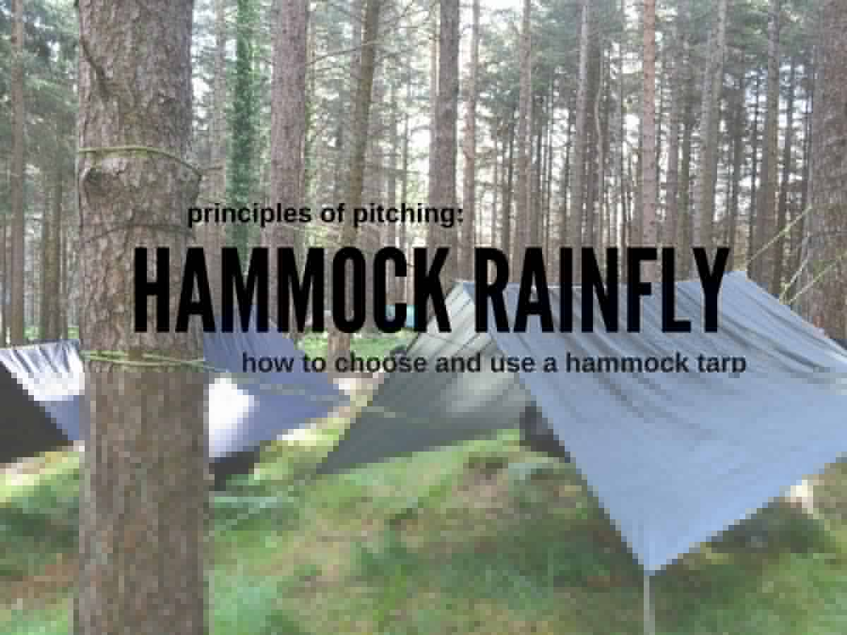 setting up a hammock tarp as a rainfly