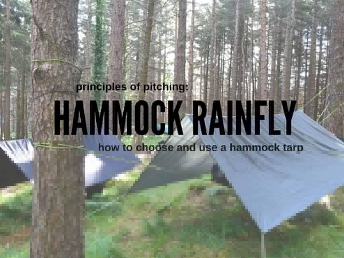 setting up a hammock tarp as a rainfly