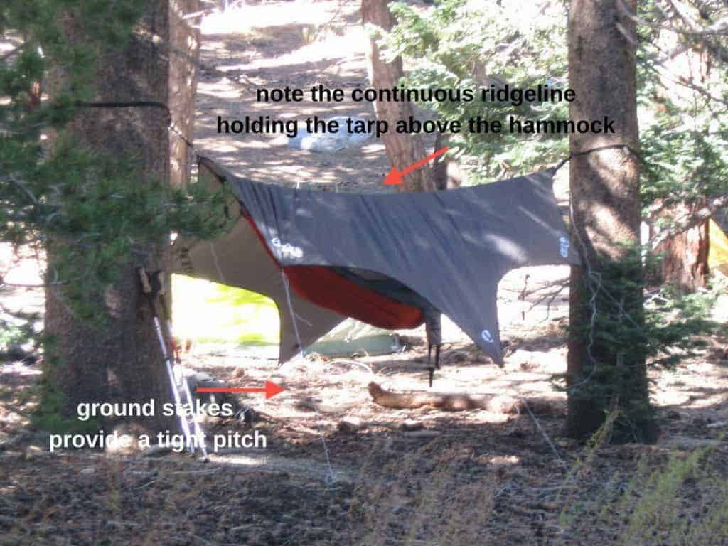 shows hammock ridgeline - continuous