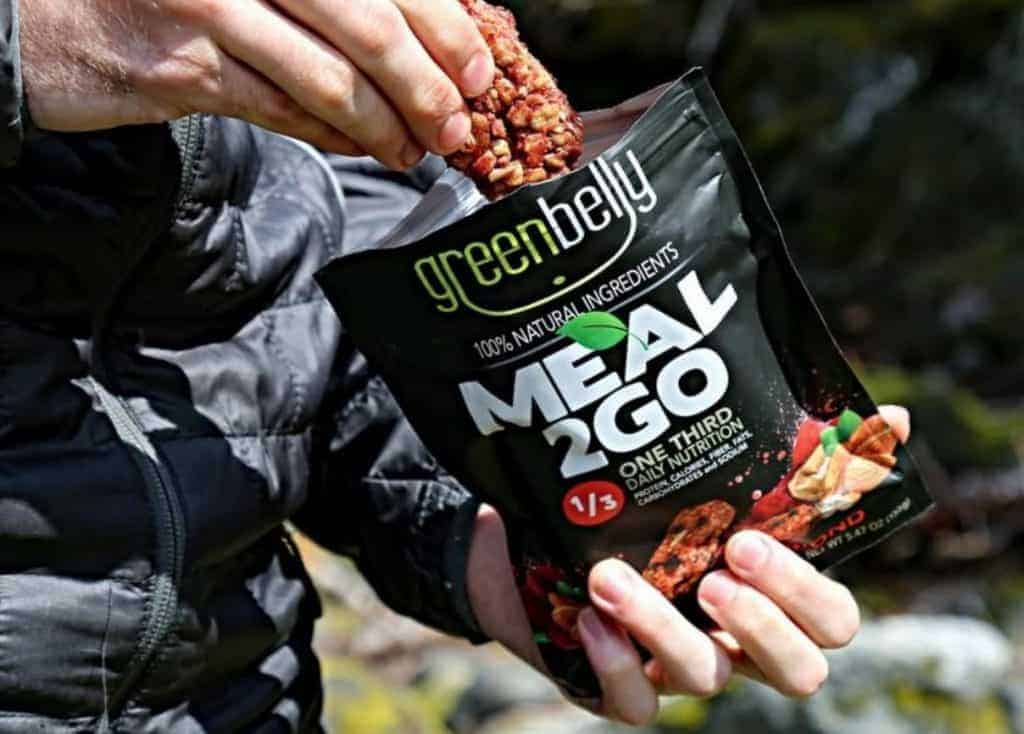 best energy bar for hiking - greenbelly