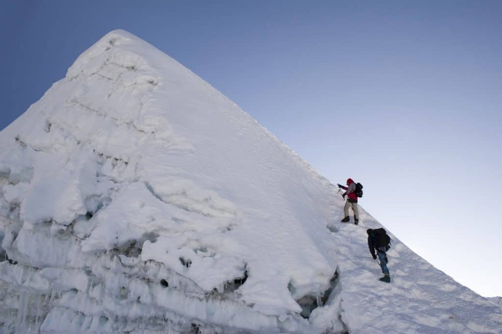 Island Peak, Nepal, a thrilling climb in winter conditions