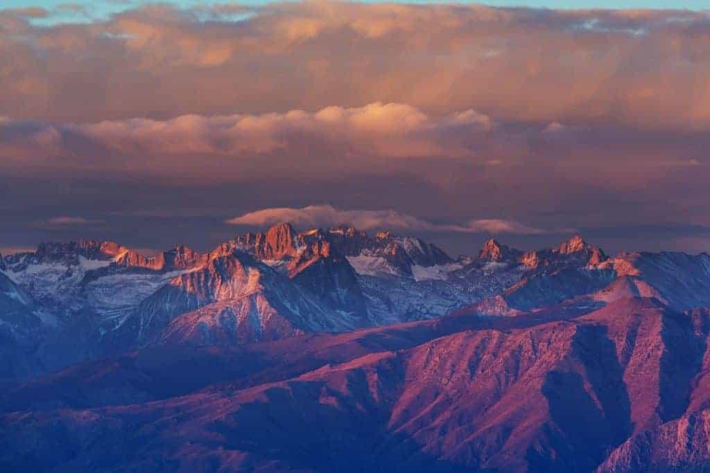 Mt Whitney in Sierra Nevadas