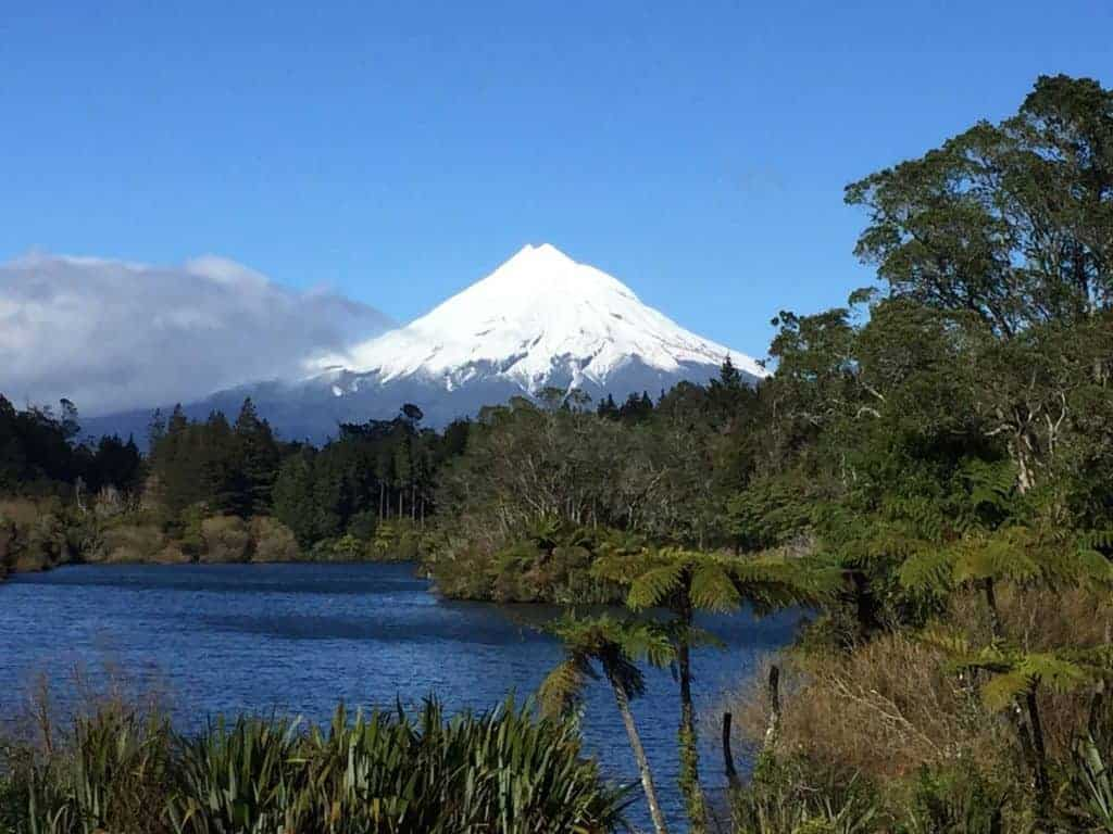Mt Taranaki in New Zealand is a haven for hikers