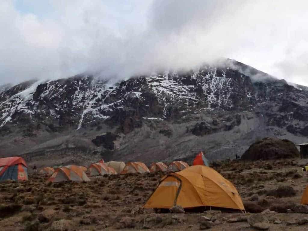 4 season tents on Kilimanjaro