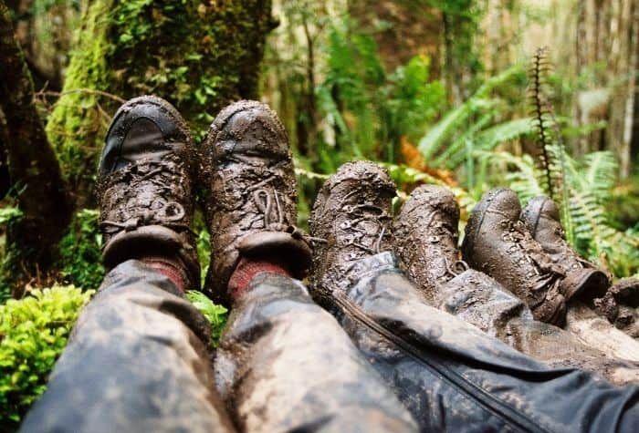 How do I take care of my leather hiking boots?