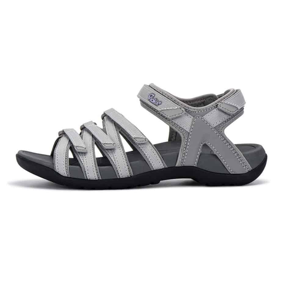 Viakix Grey Comfortable hiking sandals