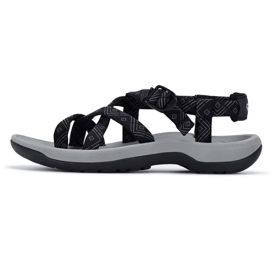 Viakix Black Cortona Sandal