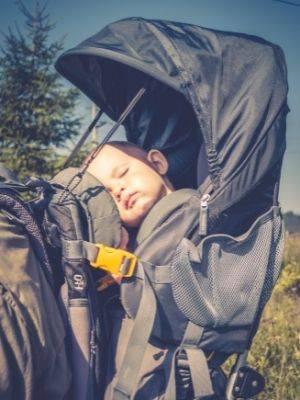 baby sleeping hiking baby carrier
