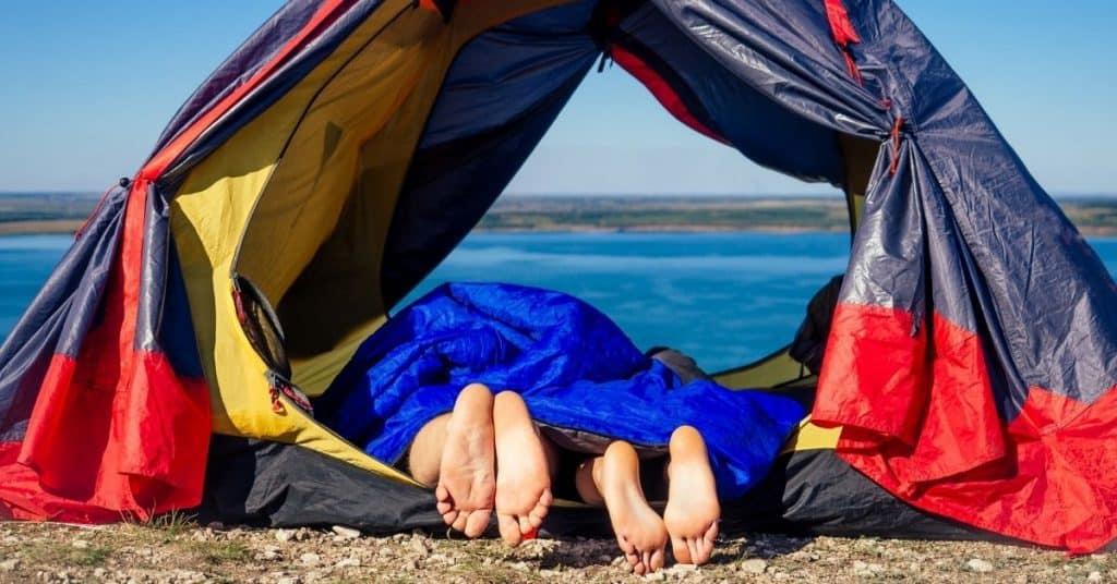 couples 2 person sleeping bag