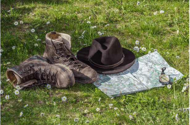 A good hiking sun hat with UPF and sturdy hiking boots are perfect companions for a day hike