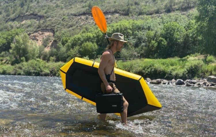 RTIC hard case 16 at Roaring Fork River, Colorado