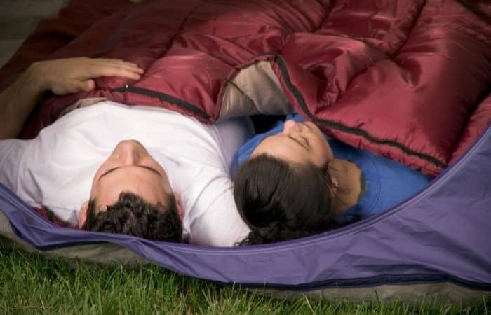 double wide sleeping bag
