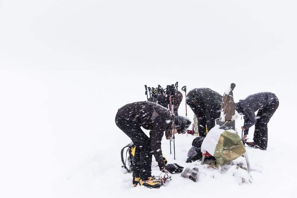 mountaineering double boot