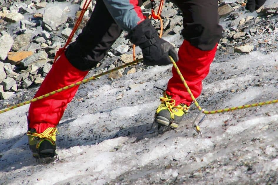 Snow gaiters can be used for mountaineering and trekking