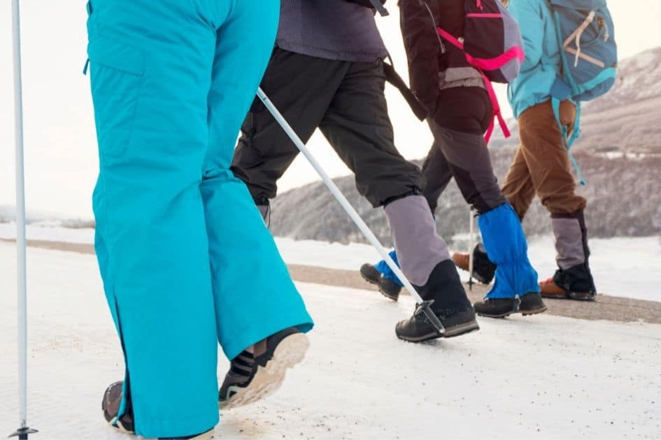 examples of various hiking gaiters